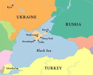 Map Crimea - New Cold War: Ukraine and Beyond