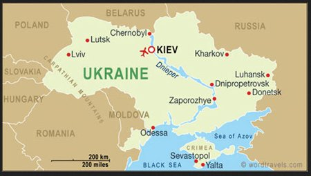 Map of Ukraine showing Dnipropetrovsk New Cold War Ukraine and
