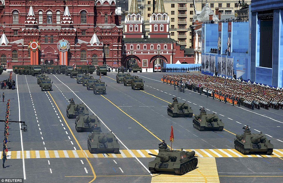 Image result for putin red square celebration