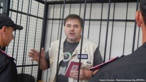 Ruslan Kotsaba in court on June 3, 2015 (RFE-RL)