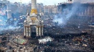 Maidan Square in Kyiv, Feb 19, 2014 (Andrey Stenin, Sputnik)