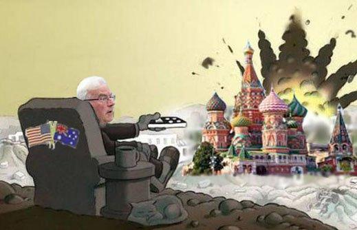 Australian Armchair General Weaponizes Himself In War Against Russia