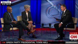 Ajamu Baraka and Jill Stein on CNN town hall broadcast on Aug 17, 2016