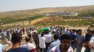 Funeral in Gaziantep, southern Turkey following deadly bombing of Kurdish wedding on Aug 20, 2016 (ANF News)