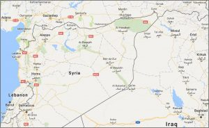 Google map showing Al Hasakah eastern Syria New Cold War Ukraine