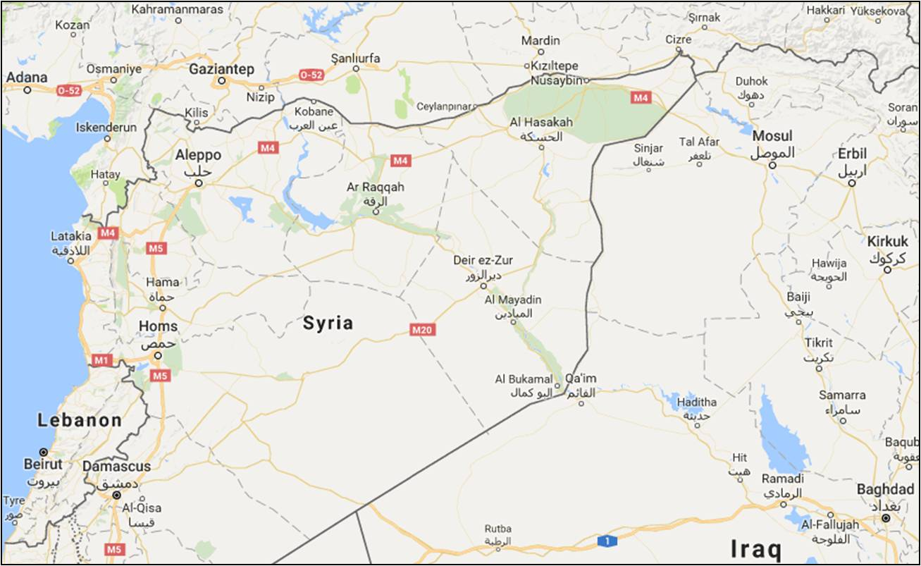 Hasakah truce reached between syrian regime kurds after russian google map showing al hasakah eastern syria gumiabroncs Image collections