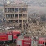 Turkish security headquarters in Cizre, Turkey destroyed in bomb attack