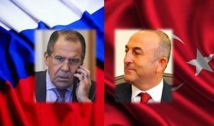 Russian Foreign Minister Sergei Lavrov (L) and his Turkish counterpart Mevlut Cavusoglu (image on Russia Foreign Ministry website)