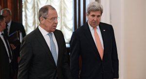 Sergei Lavrov and John Kerry talk for 12 hours in Geneva on August 26, 2016 (Ilya Pitalev, Sputnik)