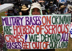 Tens of thousands of residents of Okinawa protest U.S. military bases on June 19, 2016 (Toru Yamanaka, AFP - Getty Images)