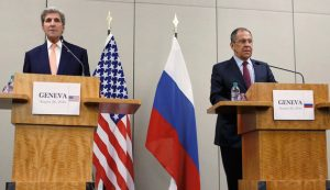 U.S Secretary of State John Kerry and Russian Foreign Minister Sergey Lavrov hold news conference after 12-hour meeting in Geneva on  Aug 26, 2016 (Pierre Albouy, Reuters)