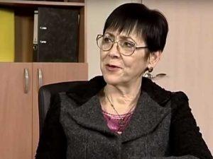 Ukrainian writer and democracy advocate Myroslava Berdnyk (image from YouTube)