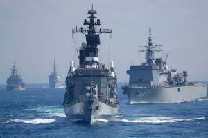 Vessels of Japan's navy, which is called 'Maritime Self-Defense Force', pictured in 2015 (Shizuo Kambayashi, AP)