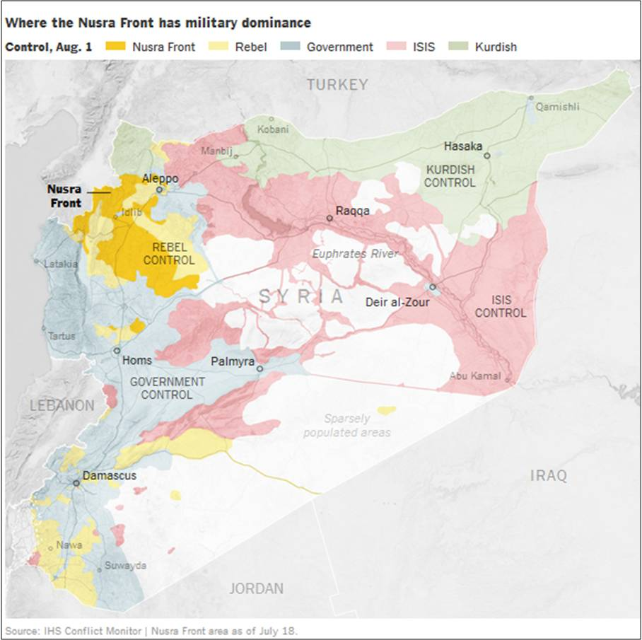Zones Of Control In Syria As Of Aug Map By IHS Monitor - Syria interactive map