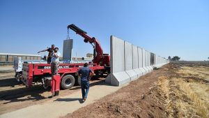 Border wall being constructed by Turkey along its border with eastern Syria (Anadolu Agency)