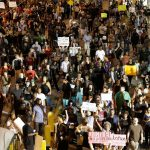 Third night of protests in Charlotte, North Carolina against latest police killing in U.S. of Black man