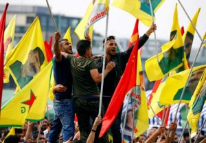 Several tens of thousands rally in Cologne, Germany on Sept 3, 2016 to condemn Turkish gov't repression against Kurds and others (Wolfgang Rattay, Reuters)