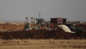 Turkish army position near the northern Syrian town of al-Rai (Aleppo governorate) on Sept. 27, 2016 (Khalil Ashawi, Reuters)