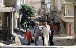 Area of north Aleppo city retaken by Syrian gov't in July 2016 (AFP)