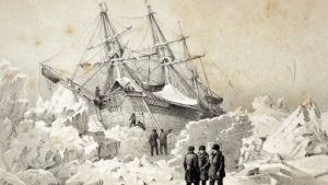 Artist rendition of Britain's fateful Franklin Expedition of 1845-48