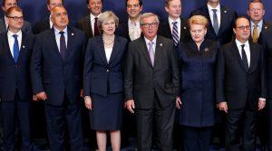 European leaders at EU summit meeting on Oct 20, 2016 (Francois Lenoir, Reuters)
