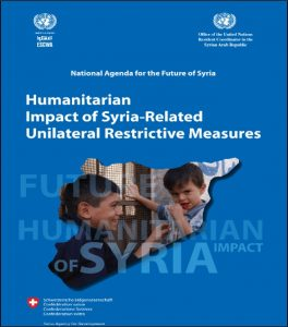 May 2016 report on grave humanitarian consequences of U.S. and UN sanctions against Syria was kept secret