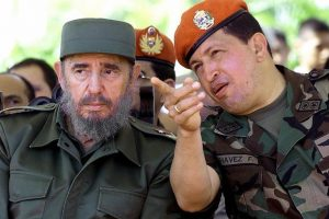 Fidel Castro and the late Venzuelan leader Hugo Chavez pictured in Caracas in 2001 (Reuters)