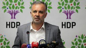 HDP party spokesman Ayhan Bilgen at Nov 10, 2016 press conference in Ankara (Gazete Duvar)