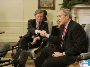 Right-wing ideologue John Bolton served as U.S. ambassador to the UN for 16 months in 2005-06 under President Bush