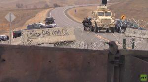 Standoff at Dakota Access Pipeline construction site in North Dakota (photo by RT)