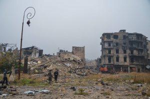 Eastern Aleppo in December 2016 (photo by Jan Oberg on Facebook)