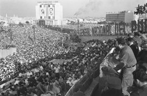 Fidel Castro delivers 'The Second Declaration of Havana' on Feb 4, 1962, proposing socialist goals of the Cuban Revolution