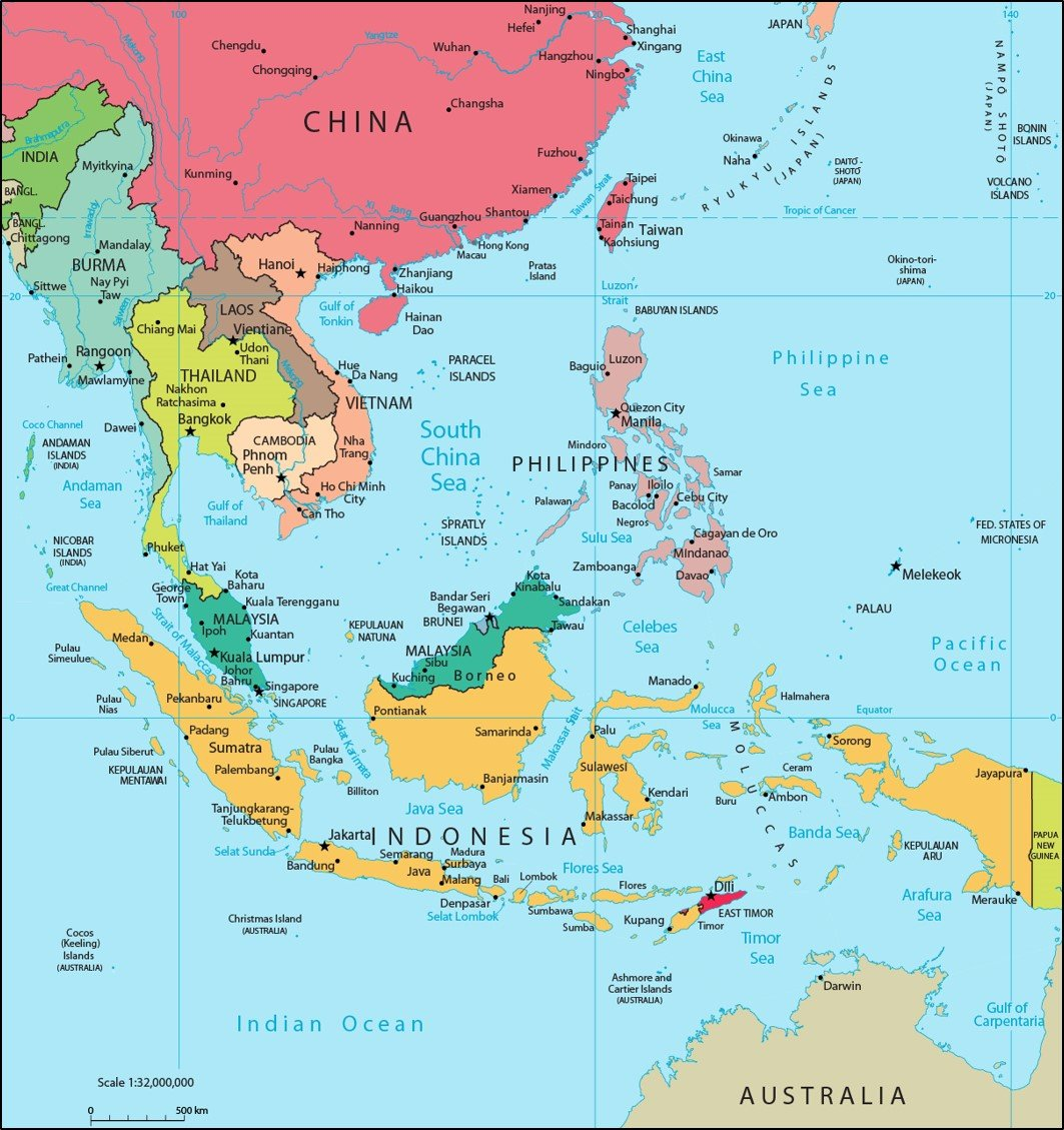 Map Of Asia During The Cold War.Map Of Southeast Asia New Cold War News And Analysis Of The