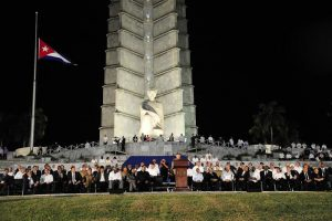 Mass commemoration in Havana's José Martí Plaza de la Revolución on Nov 29, 2016 to honor the memory of the historic leader of the Cuban Revolution, Fidel Castro Ruz (photo on Granma)