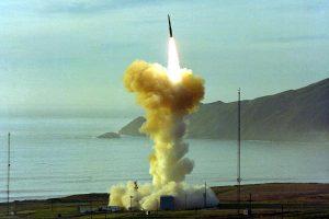 Minuteman III intercontinental ballistic missile firing