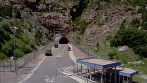 NORAD command center at Cheyenne Mountain, Colorado