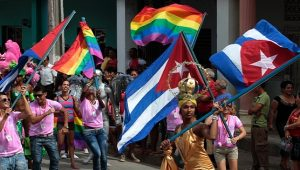Pride parade in Cuba (Reuters photo, on Telesur