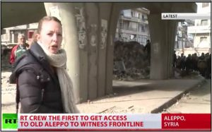 RT.com's Lizzie Phelan reports on Dec 7, 2016 from the Old City of Aleppo (RT screenshot)
