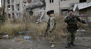 Ukrainian shelling of settlements in Donetsk, eastern Ukraine (Anatolii Stepanov, AFP, on Sputnik))