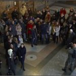 Singing flash mobs in Ukraine celebrate a multinational and multilingual country, opposing intolerance