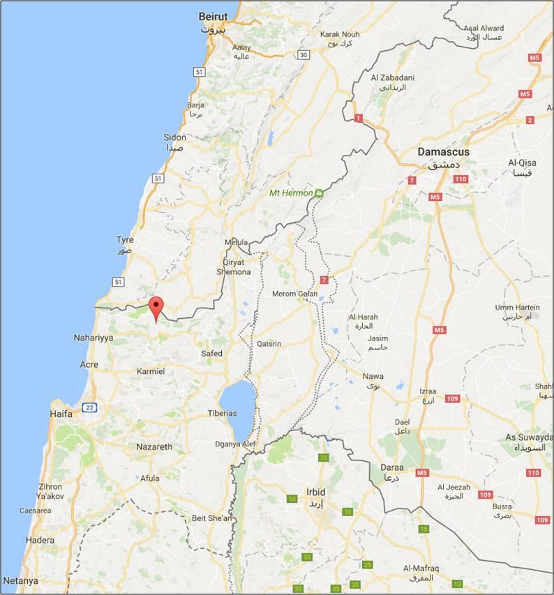 Kfar Vradim Showing Cities Map Of Israeli on