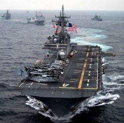 The US fifth fleet is 200 km from Iran