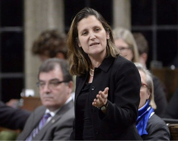 Chrystia Freeland, the current Canadian minister for external affairs