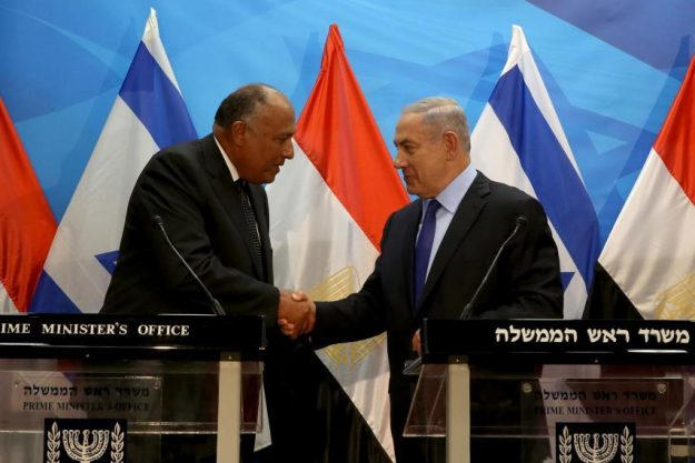 Egypt blames Prime Minister Benjamin Netanyahu for sparking the latest escalation on the Gaza border by sabotaging Palestinian reconciliation efforts. In other words, though Egypt has yet to join the condemnation of the slaughter, it holds Israel responsible for provoking the demonstrations.