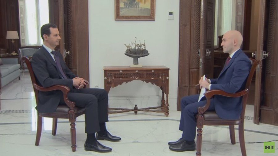 Assad speaks to Russia Today on the war in Syria, Russia's involvement, the charges of chemical weapons use, US proxies, and the very real threat of a direct US-Russia war