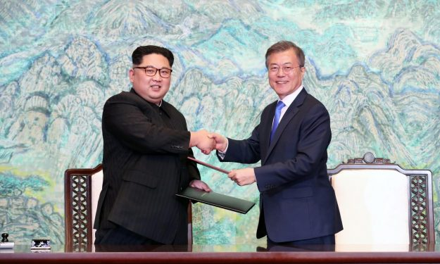 The historic first meeting between North Korea's Kim Jong-un and South Korea's Moon Jae-in took place despite Donald Trump's policies towards North Korea, not because of them.