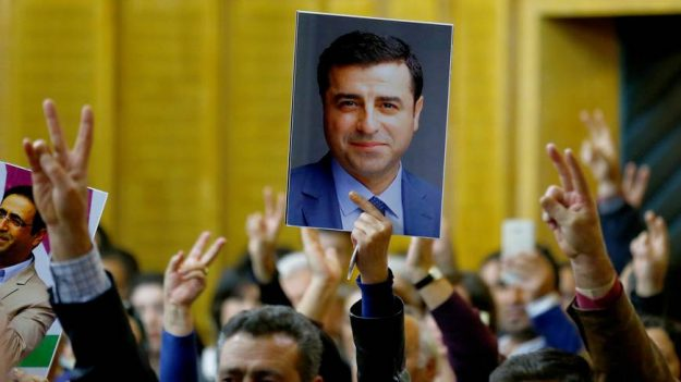 Selahattin Demirtas, leader of Turkey's second-biggest opposition group the Peoples' Democratic Party (HDP),was jailed in a wave of anti-Kurdish hysteria, astutely managed by the country's president. The other opposition parties found it a convenient excuse to exclude the HDP from attempts to unify. But these manouvres are not only divisive -they leave them exposed to charges of collaborating in electoral suppression which could backfire. The belated spate of calls for Demirtas to be released reflect the perilous state not just of the President but of his 'official' opposition.