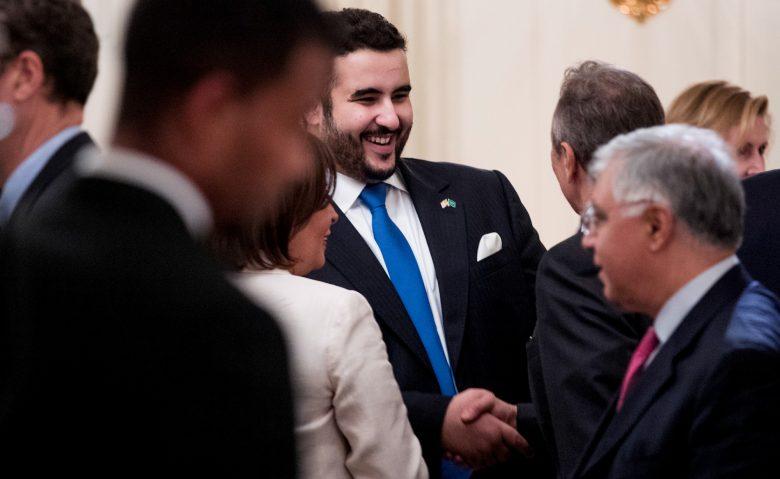 Prince Khalid bin Salman attends a White House dinner, June 6, 2018, in Washington. Andrew Harnik   AP