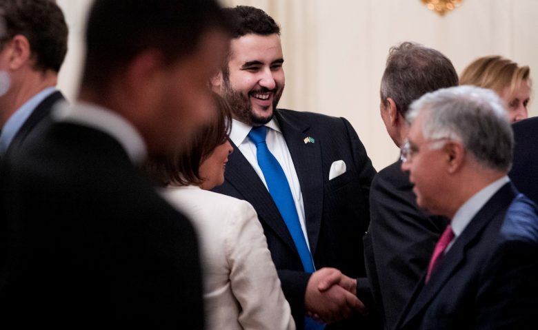 Prince Khalid bin Salman attends a White House dinner, June 6, 2018, in Washington. Andrew Harnik | AP
