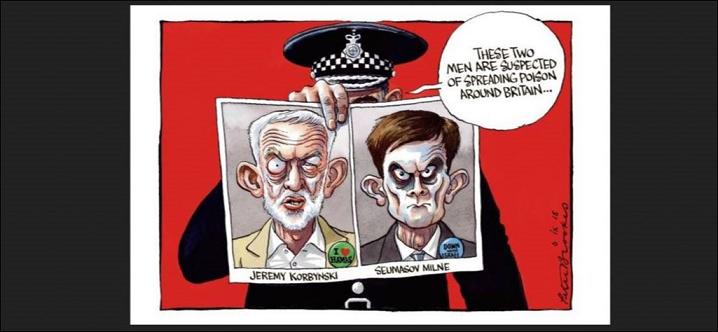 Peter Brookes cartoon of Corbyn Milne